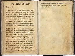 the illusion of death elder scrolls fandom powered by wikia