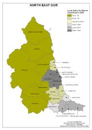 Durham England Map by Regional Maps Of Rural Areas Census 2001 Region North East