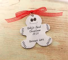 baby u0027s first christmas gingerbread man ornament at sweet blossom gifts
