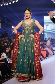 uzma babar new fashion style designer bridal wedding dress