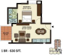 630 sq ft 1 bhk 1t apartment for sale in ukn properties the