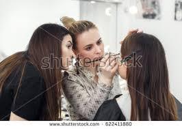become makeup artist professional makeup student stock photo