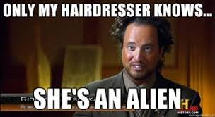 History Channel Ancient Aliens Meme - guy with crazy hair meme with best of the funny meme