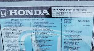 honda civic type r prices 2017 honda civic type r priced from 33 900 in the u s