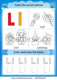 alphabet learning letters coloring graphics printable stock