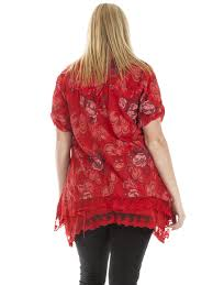 Plus Size Lagenlook Clothing New Womens Italian Lagenlook Layered Floral Button Scarf Dress Top