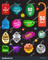 color tag beauty multishape sale business stock vector 138063299