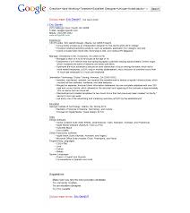 astounding design google resume 1 the resume that got eric gandhi