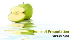 green apple slice powerpoint templates green apple slice