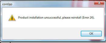 corel draw x4 error reading file fix product installation unsuccessful please reinstall error 24