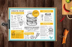 29 delicious menu templates for restaurants u0026 cafes u2013 graphic