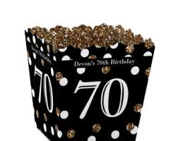70th Birthday Party Favors for Birthday Parties Favor Boxes