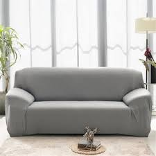 housse canapé 3 places pas cher housse de canape 3 places avec accoudoirs gris achat vente pas cher