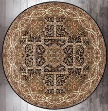 Black Circle Rug Handmade Floral Medallion Black Ivory Heritage Round Rug 8 U00271 X 8 U00272