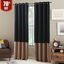 Two Tone Drapes Amazon Com Exclusive Home Curtains Chateau Striped Faux Silk