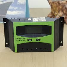 40a solar regulator 12v 24v lcd display light timer