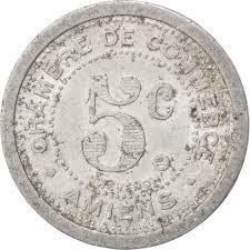 chambre des commerces amiens 85286 amiens chambre de commerce 5 centimes 1922 elie 10 6