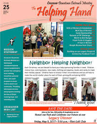 newsletter crossover downtown outreach ministry
