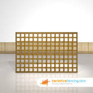 4 Ft Fence Panels With Trellis Rectangle Planed Square Trellis Fence Panels Berkshire Fencing