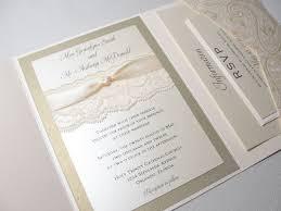 Invitation Pocket Lace Wrapped Wedding Invitation With Pocket Elite Wedding Looks