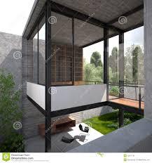 porch clipart modern minimalist summer villa stock image image 10011731