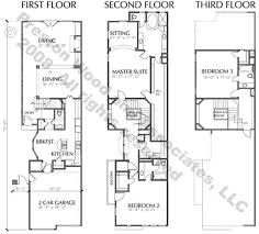 row home floor plans townhome plan c8034 a b