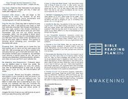 bible reading plan u2039 awakening church