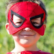 spiderman mask halloween spiderman kids mask handmade girls boys spiderman felt mask