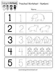 free printable preschool worksheet using numbers for kindergarten