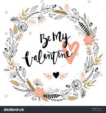 valentines day greeting card wreath love stock vector 368699816