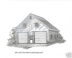 building a loft in garage 30 x 40 2 stall fg garage building blueprint plans w loft ebay