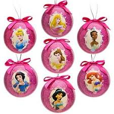 disney princess decoupage ornament set 7 pc home