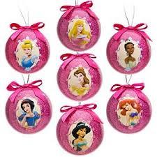 disney princess decoupage ornament set 7 pc home