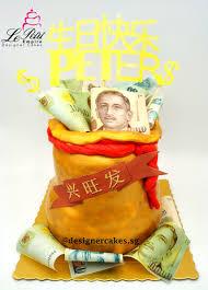 edible money money cake 3d golden money bag with edible money and customized