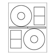 2 up cd label sheet 4 625 diam stomper white matte picture perfect