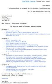 great cover letter template how to get a job