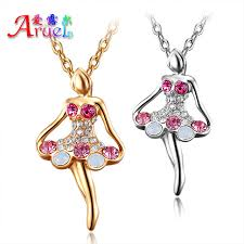 platinum necklace designs images Cute 18k gold plated platinum white and pink crystal stone a jpg