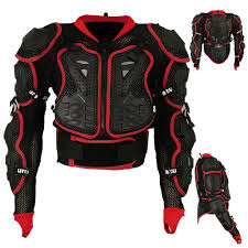 red motorcycle jacket motocross motorbike body armour motorcycle spine protector guard