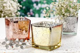 Mercury Glass Home Decor Amazon Com V More Square Cube Mercury Glass Candle Holder Votive