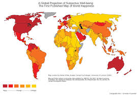 Labeled World Map global happiness map unusual world maps pinterest happiness