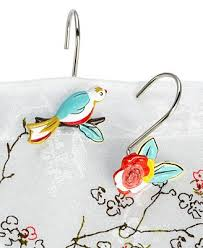 Hummingbird Bathroom Accessories by Lenox Simply Fine Bath Accessories Chirp Shower Curtain Hooks