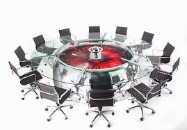 Unique Conference Tables Cool Conference Table That Is Made From Plane Engine Nacelle