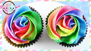 rainbow cupcakes rainbow rose cupcakes by sugarcoder youtube