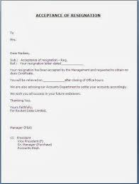 bunch ideas of template letter of resignation acceptance for your
