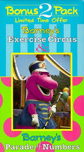 amazon barney u0027s exercise circus u0026 parade numbers vhs