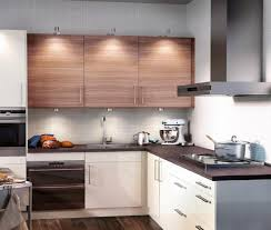 kitchen desaign kitchen ideas well liked wall mount plywood kitchen ideas well liked wall mount plywood kitchen cabinet teak pattern over l shaped white cabinet black granite top in modern small kitchen design comely