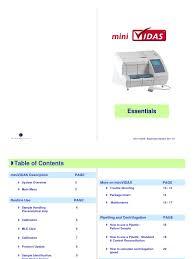 minividas immunoassay system manual 2 prostate specific antigen