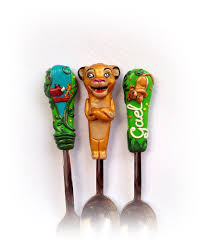 lion king silverware set kids gift for boy unique cutlery gold