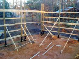 How To Build A Wood Floor With Pole Barn Construction by How One Man Built His Pole Barn House Milligan U0027s Gander Hill Farm