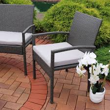 Trully Outdoor Wicker Swing Chair by Sunnydaze Pompeii 4 Piece Lounger Patio Furniture Set With Grey
